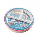 Sugarbooger® αντιολισθητικό πιάτο μελαμίνης Baby Otter με διαχωριστικά