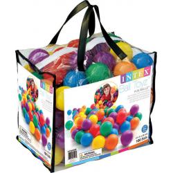 Χρωματιστά μπαλάκια αέρα 8 cm INTEX Fun Ballz™ σετ των 100