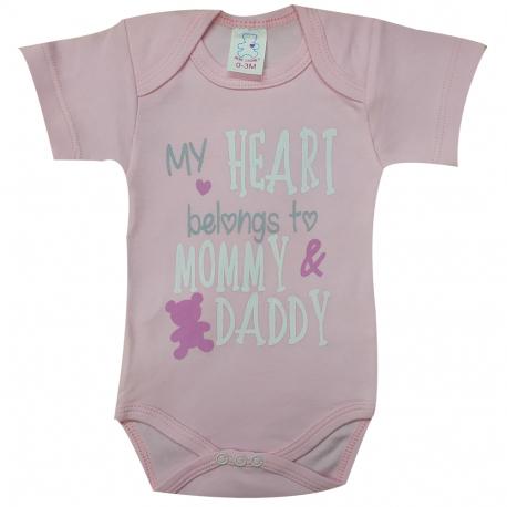 Φορμάκι εσώρουχο Bebe Cooney My Heart Belongs To Mommy & Duddy