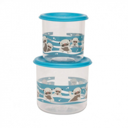 Sugarbooger® σετ 2 μεγάλα δοχεία αποθήκευσης φαγητου Good Lunch® Baby Otter