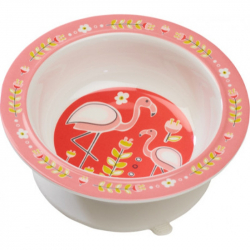 Sugarbooger® αντιολισθητικό μπολ μελαμίνης Flamingo 340 gr
