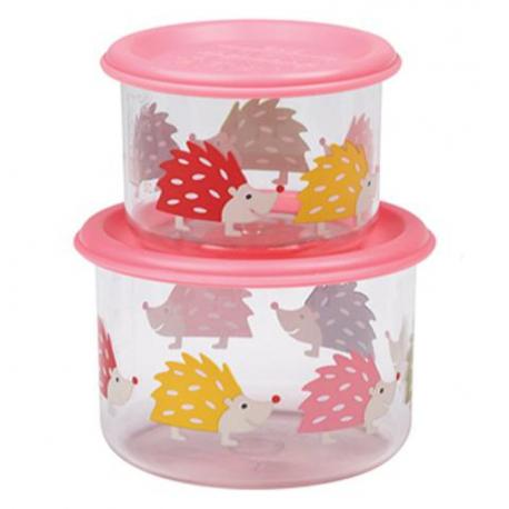 Sugarbooger® σετ 2 μικρά δοχεία αποθήκευσης φαγητου Good Lunch® Hedgehog