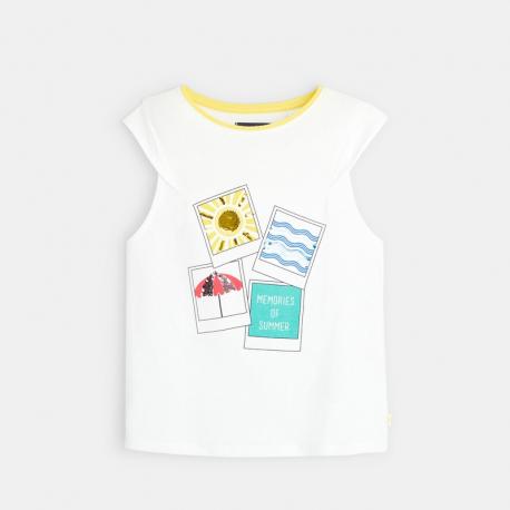Okaidi T-shirt a message et sequins