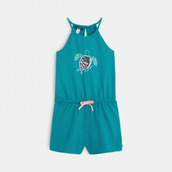 Combishort en jersey motif tortue de mer