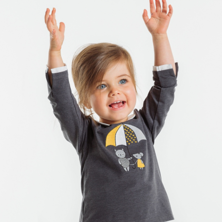 Okaidi T-shirt chat et souris brodes