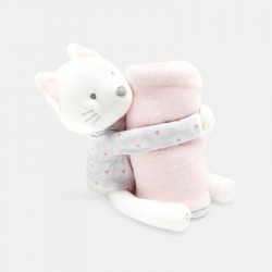 Okaidi Παιχνίδι αγκαλιάς γάτα και κουβέρτα