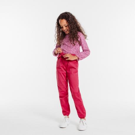Okaidi Pantalon en toile unie ceinture