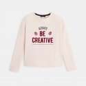 Okaidi T-shirt manches longues a message 'Always be positive'