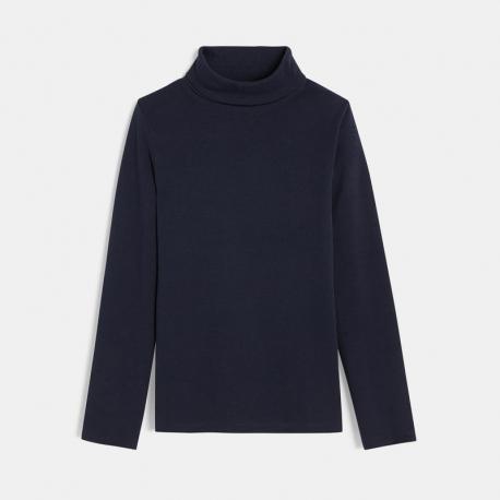 Okaidi Μπλούζα με γυριστό γιακά μονόχρωμη