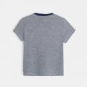 Okaidi T-shirt fines rayures motif tortue