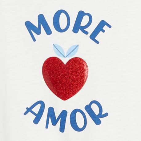 Okaidi T-shirt a motif et message