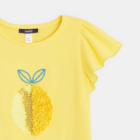 Okaidi T-shirt motif tulle et sequins fruit